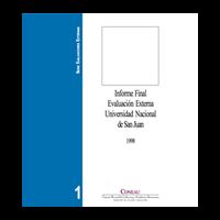 Evaluación Externa -- UNSJ -- 1998 - URL
